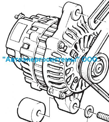 Зарядный генератор 14В